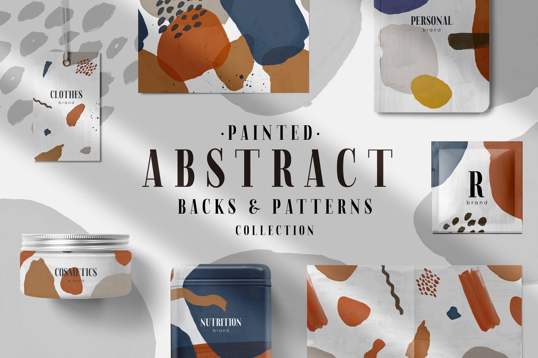 64款高清手绘抽象墨水飞溅背景PNG图片素材 Abstract Patterns & Backs插图