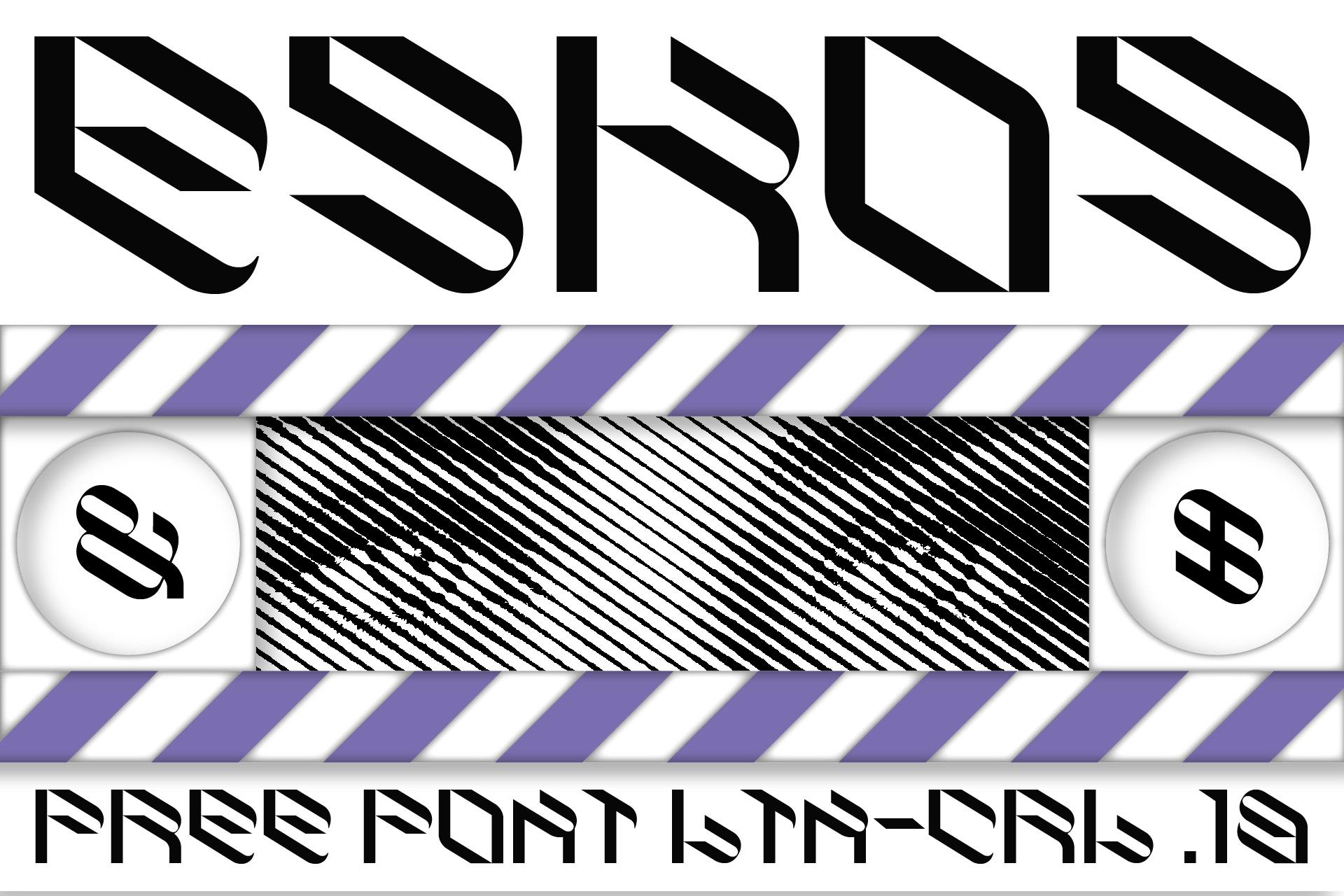 倾斜对角线英文字体下载 Eskos Typeface插图
