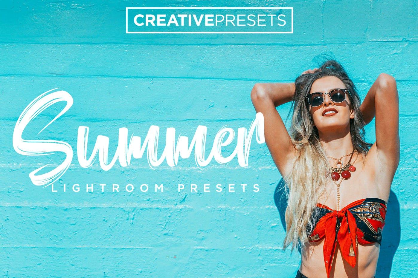 30款夏季海滩摄影照片调色LR预设模板 Summer Lightroom Presets插图