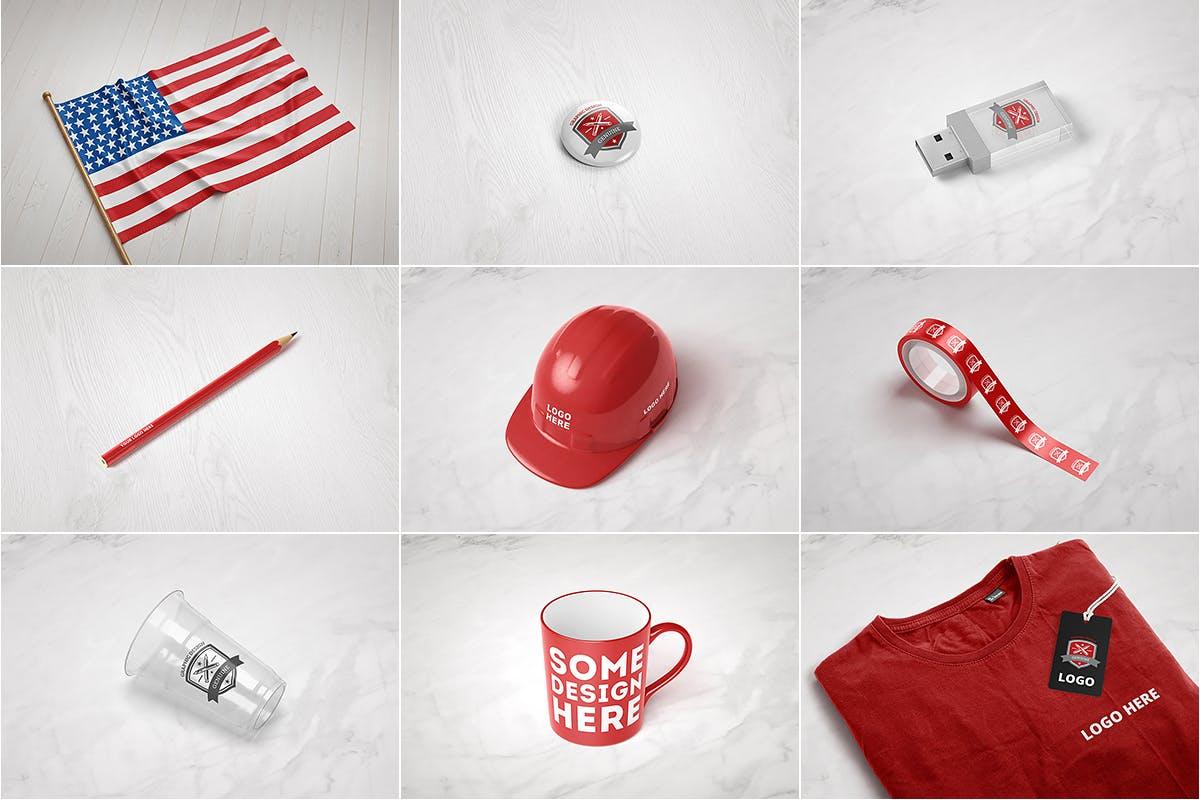 9款品牌LOGO徽标设计智能贴图样机模板 Branding & Logo Mockup插图