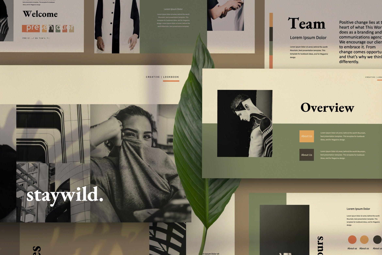 创意极简商业策划书演示文稿设计模板 Staywild – Creative Minimal Powerpoint插图