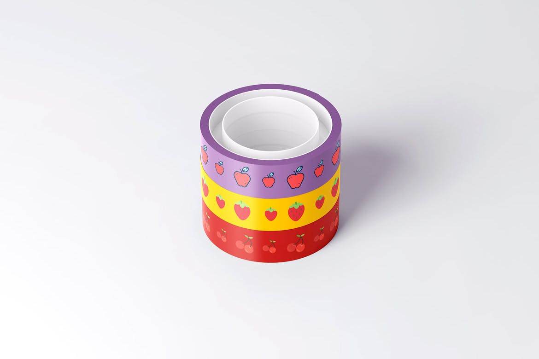 8款不干胶贴纸设计展示样机模板 Duct Tape Mockup插图