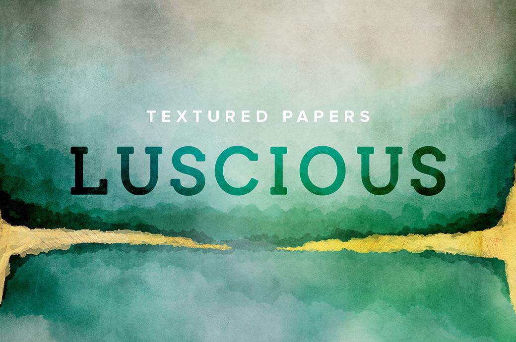 12张高清水彩金色质感艺术海报设计纸张背景纹理图片素材 Watercolor Texture Papers插图