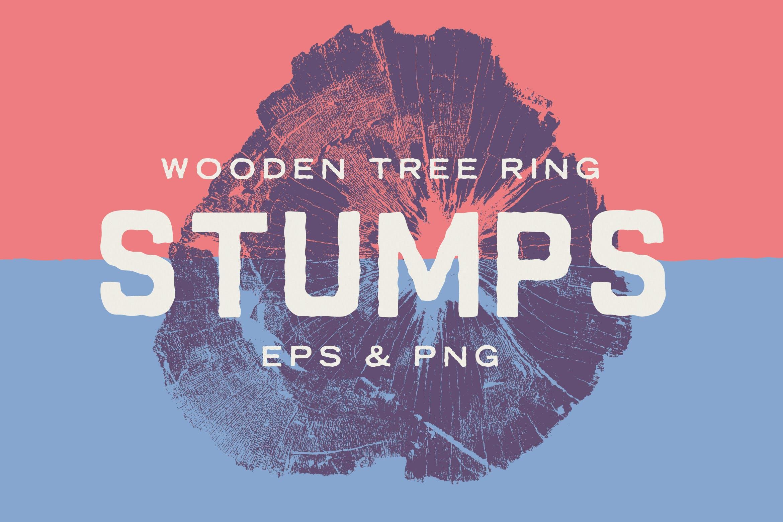 树桩木质背景纹理矢量素材 Wood Tree Stumps插图