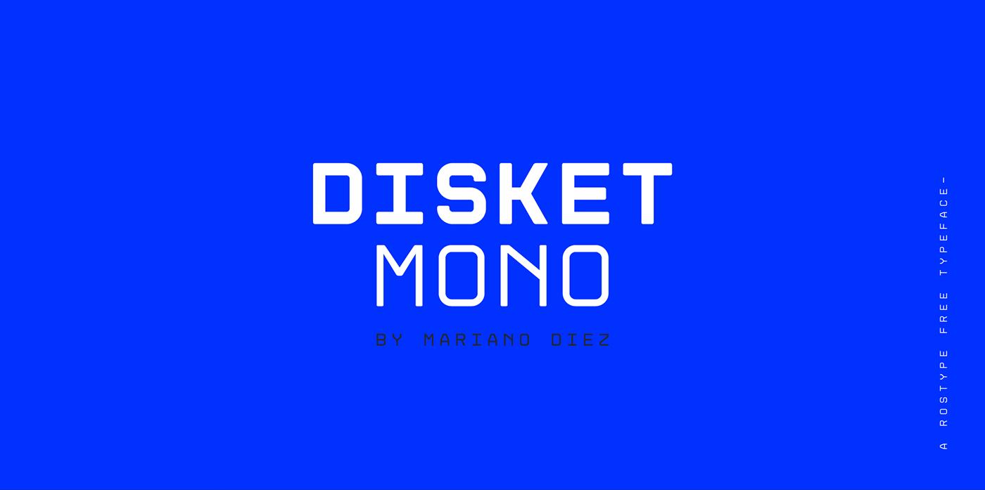 时尚无衬线英文字体下载 Disket Mono Font插图