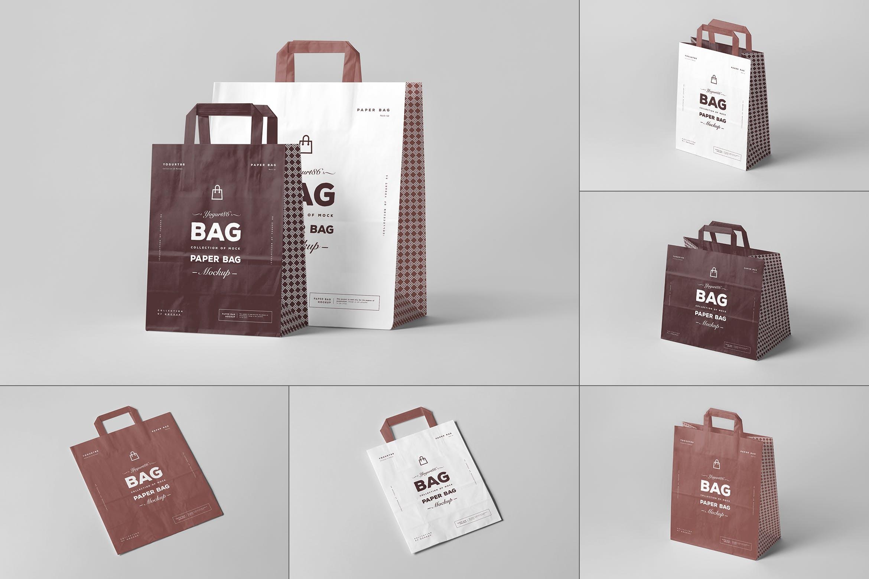 11款商城购物手提纸袋设计展示样机 Paper Bag Mockup 3插图
