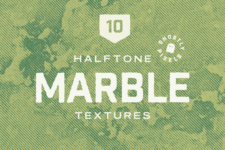 复古半色调大理石纹理矢量素材 Vintage Halftone Marble Textures插图