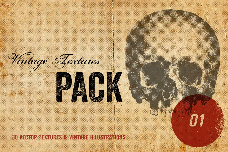 30款复古矢量插图背景纹理素材 Vintage Textures Pack插图