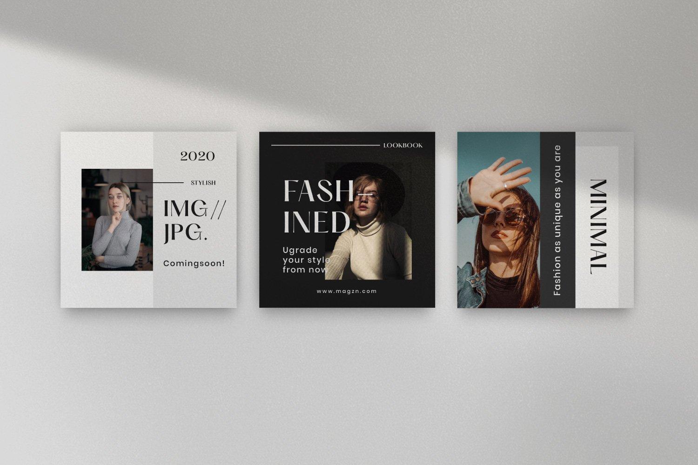 时尚服装品牌摄影推广新媒体海报设计PSD模板 MAGZ – Fashion Brand Social Media插图(9)