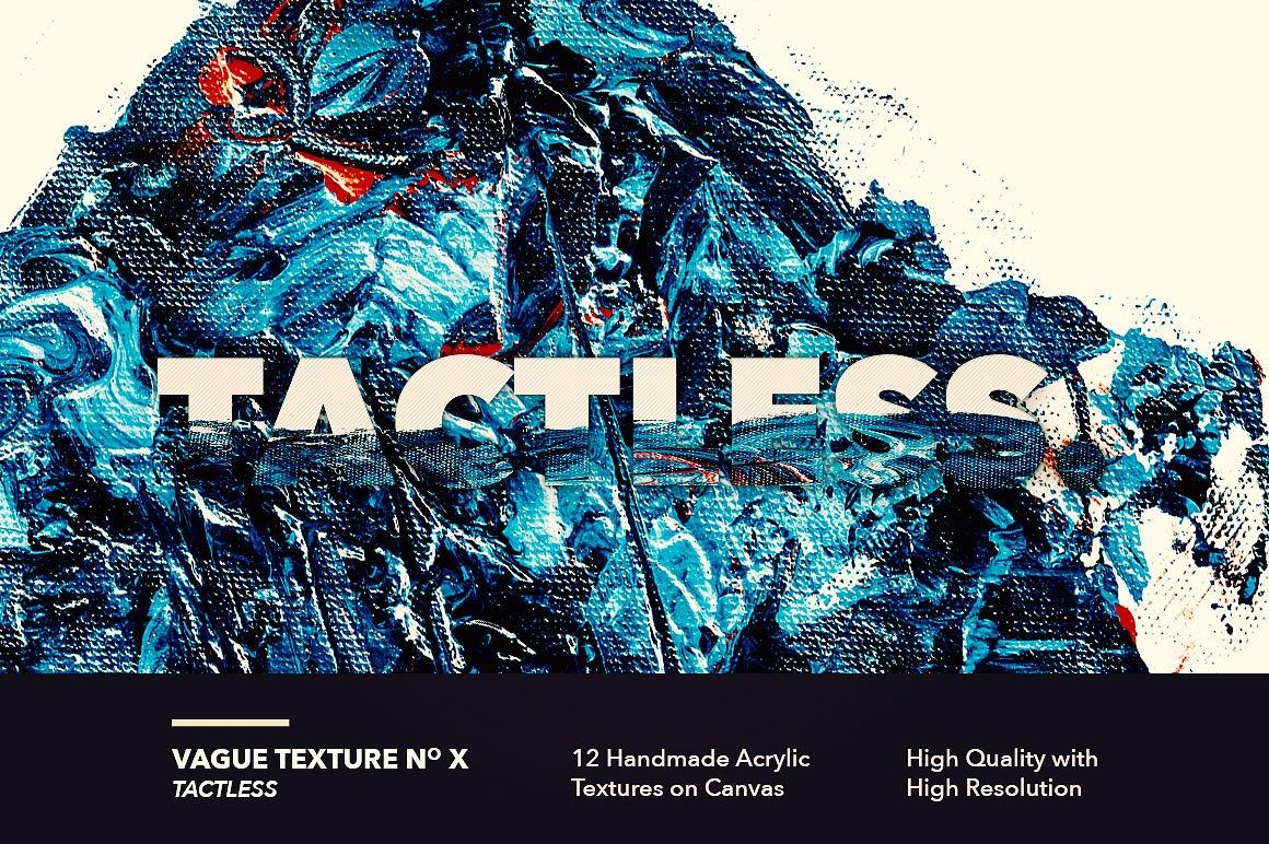 12款高清抽象炫彩丙烯酸涂料海报设计背景纹理图片素材 Vague I: 12 Acrylics Textures插图(10)