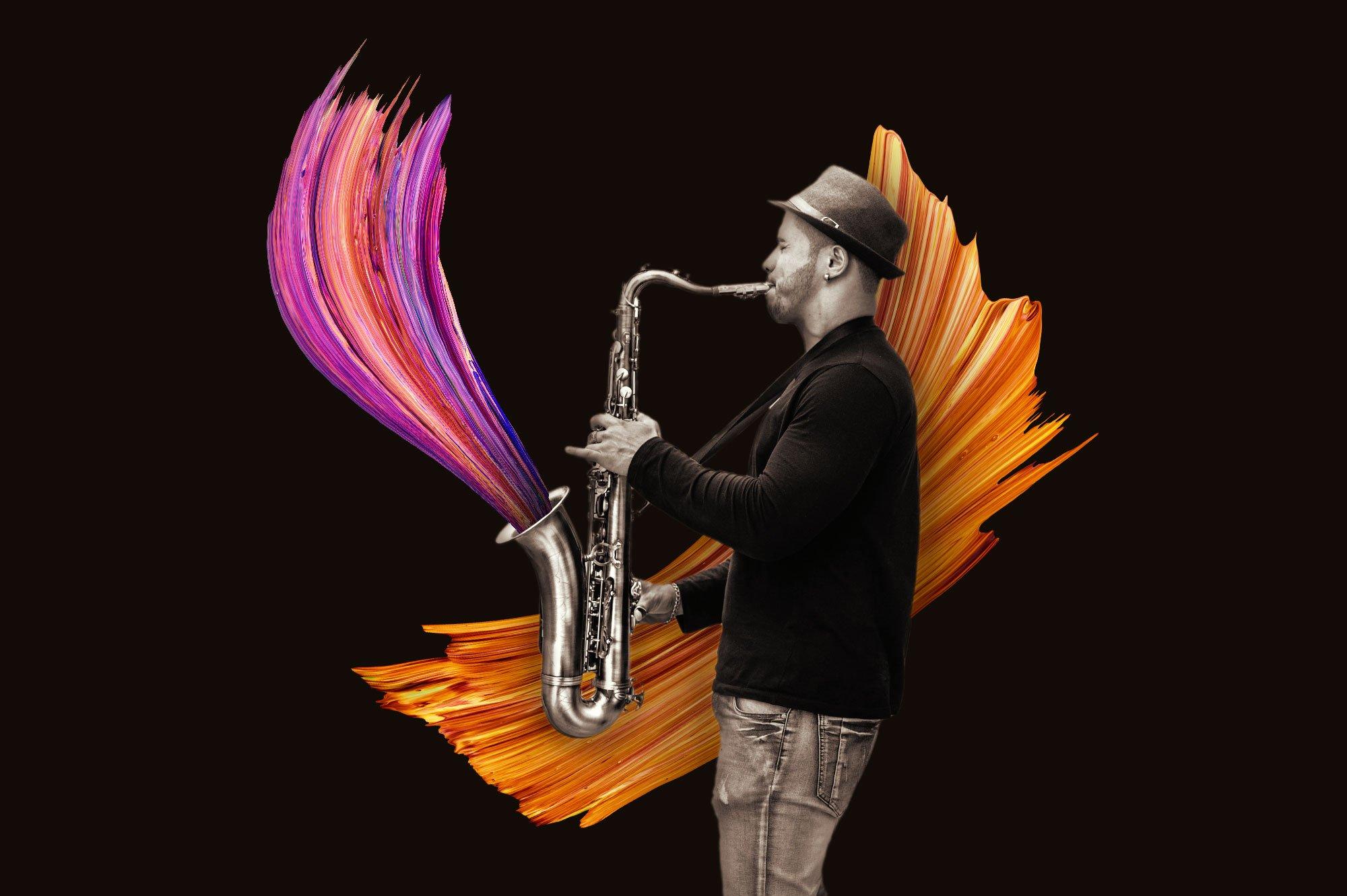 创意炫彩绘画颜料笔刷海报主视觉广告设计PS素材 Vibrant Paint Strokes插图(9)