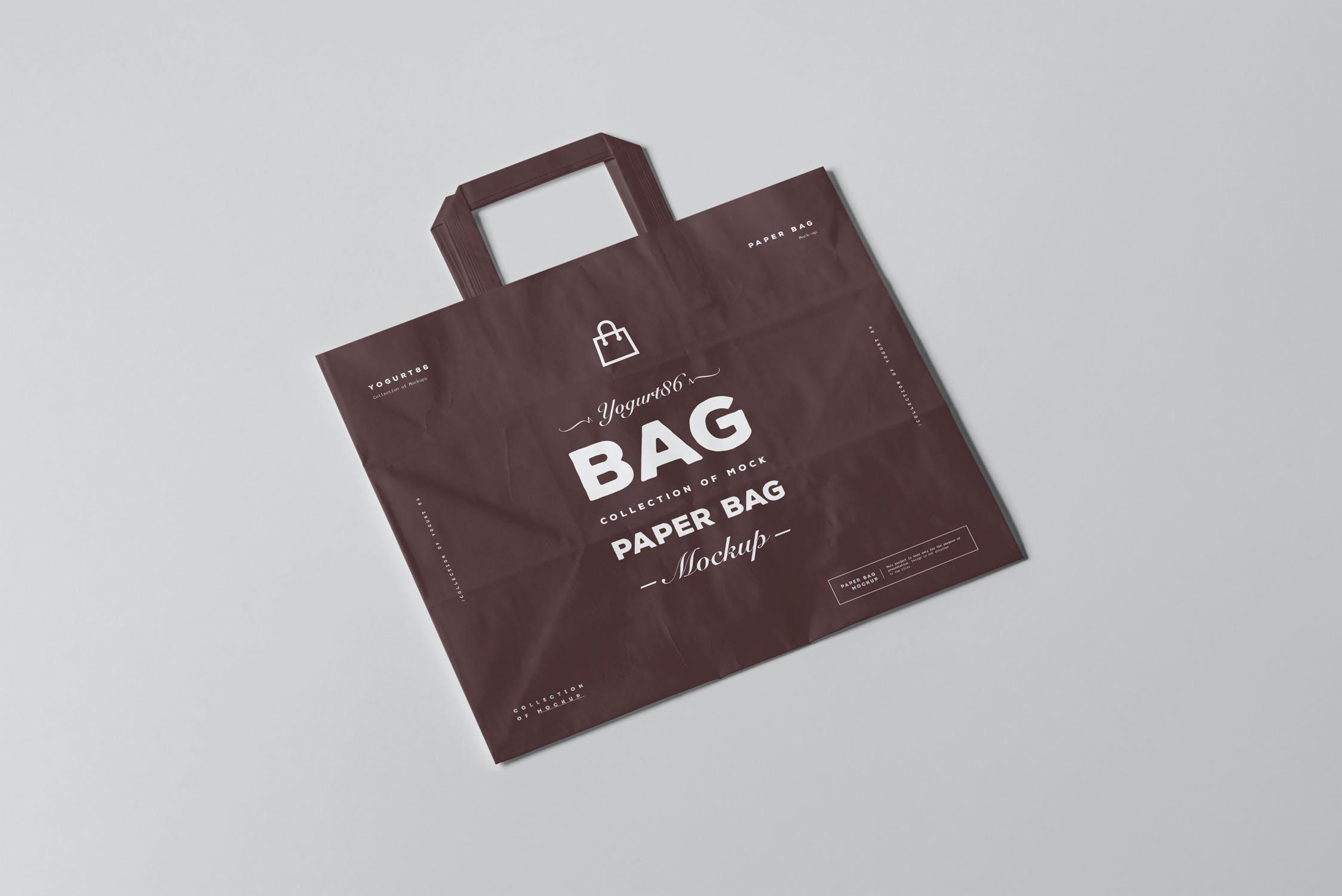11款商城购物手提纸袋设计展示样机 Paper Bag Mockup 3插图(9)