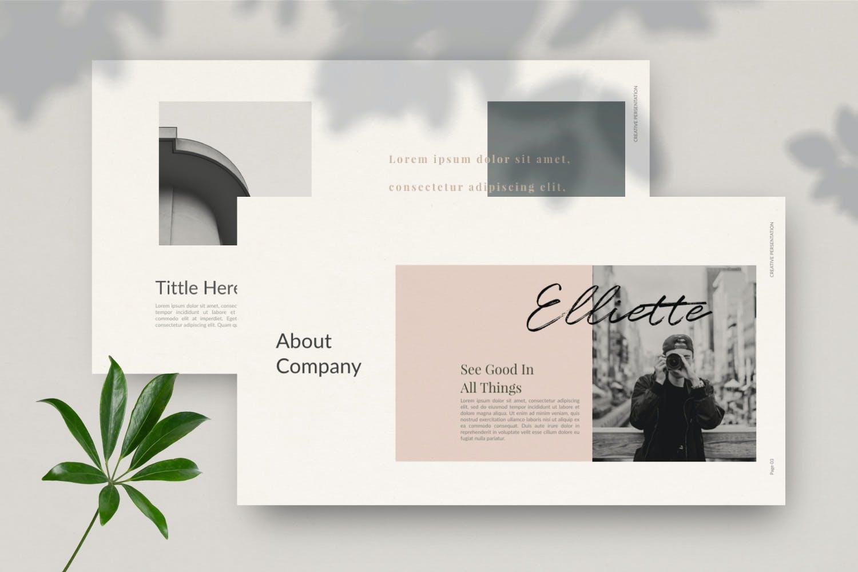 轻柔摄影作品集演示文稿设计模板 Elliette – Powerpoint插图(9)