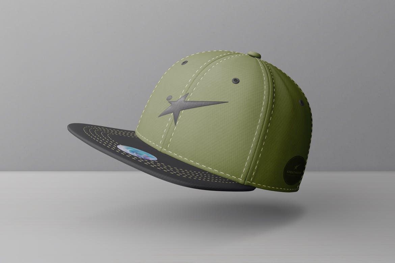 9款棒球帽印花设计展示样机模板 Snapback Baseball Cap Mockups Vol.1插图(9)