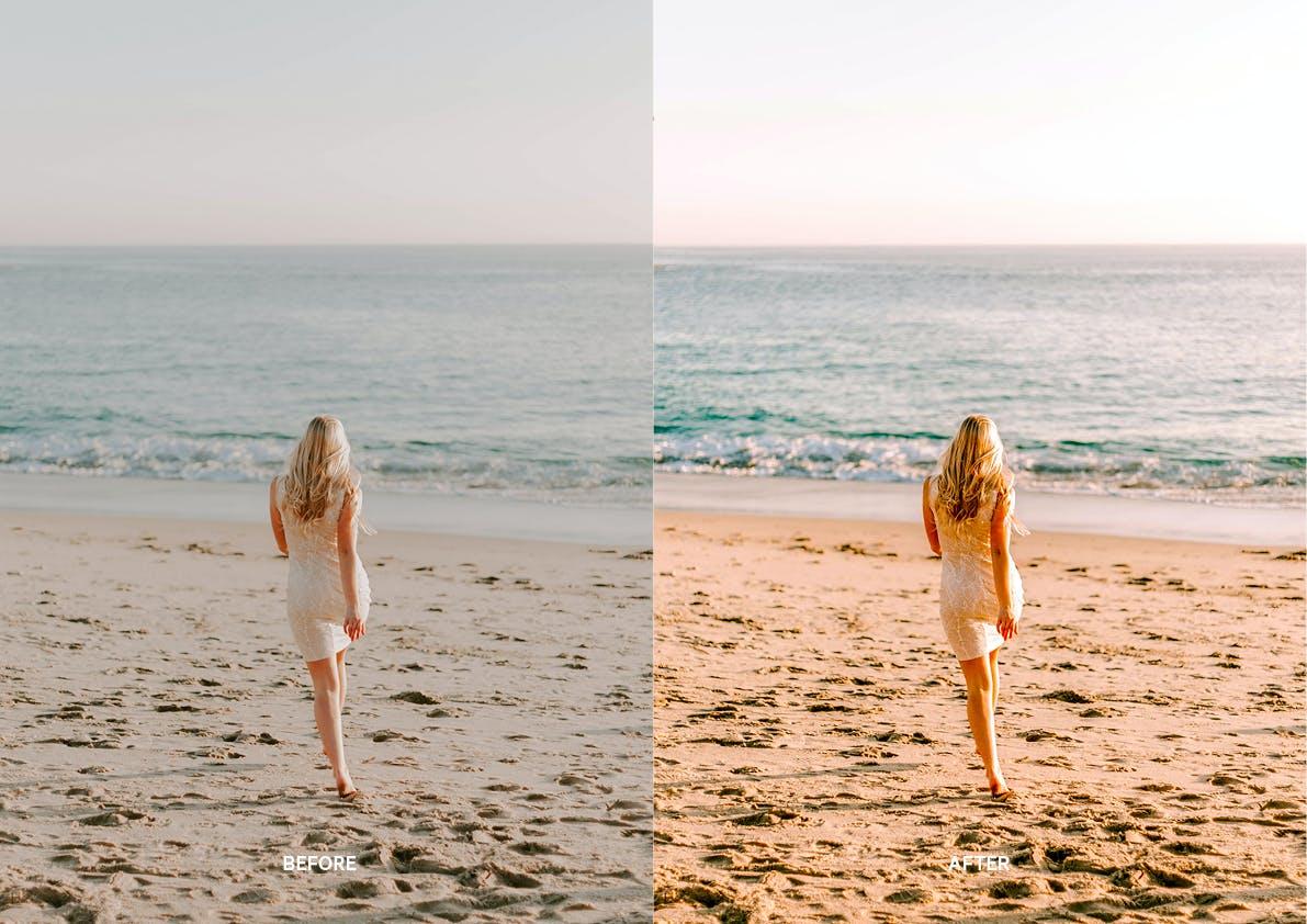 30款夏季海滩摄影照片调色LR预设模板 Summer Lightroom Presets插图(9)