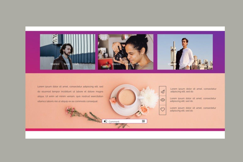 创意多用途商务营销幻灯片设计模板 KETONE – Powepoint Template Business Corporate插图(9)