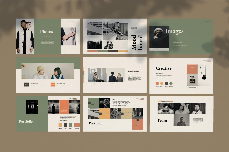 创意极简商业策划书演示文稿设计模板 Staywild – Creative Minimal Powerpoint插图(9)