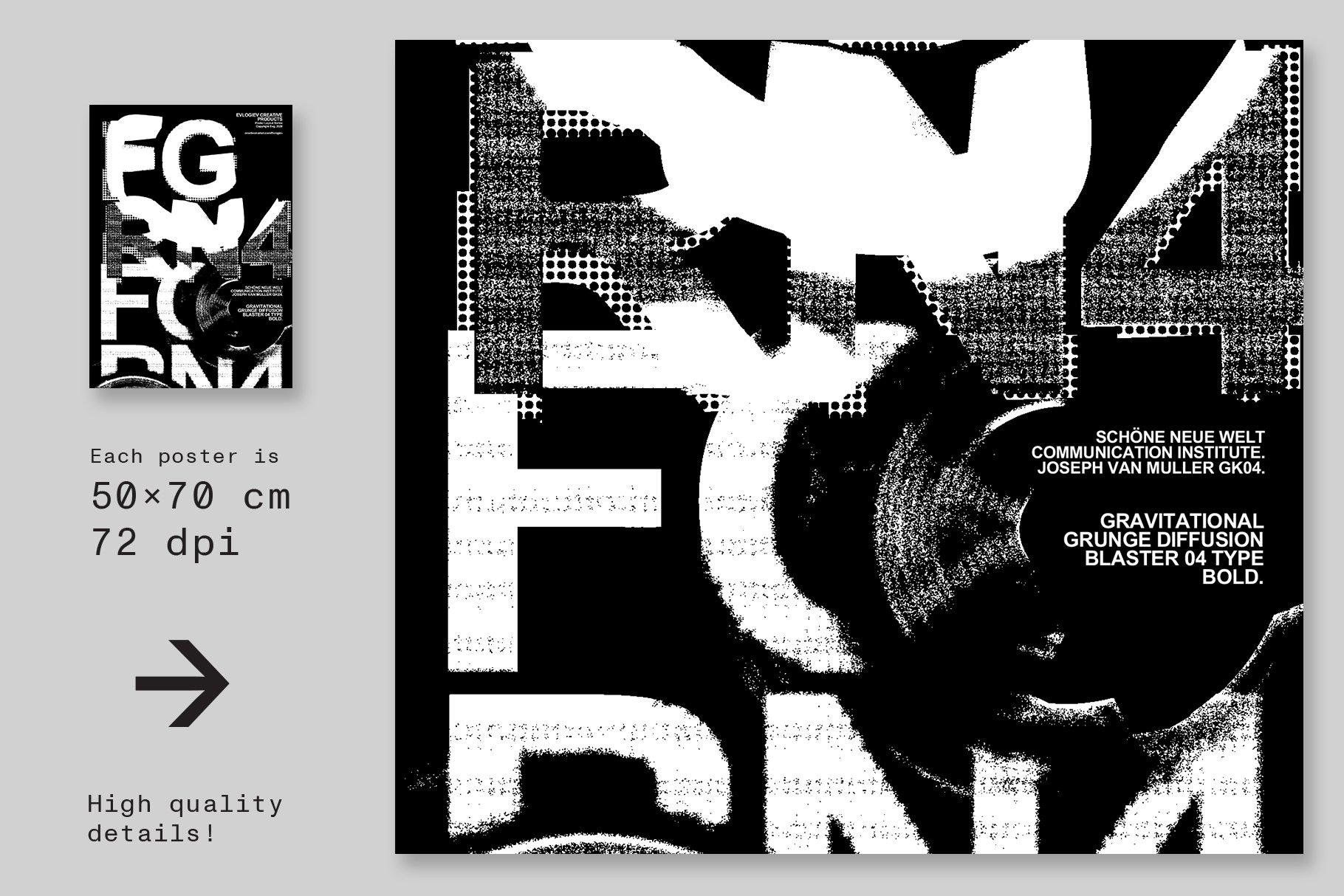 20款创意抽象主视觉海报标题特效字体设计智能贴图样机模板 Typographic Poster Layouts No.01插图(9)