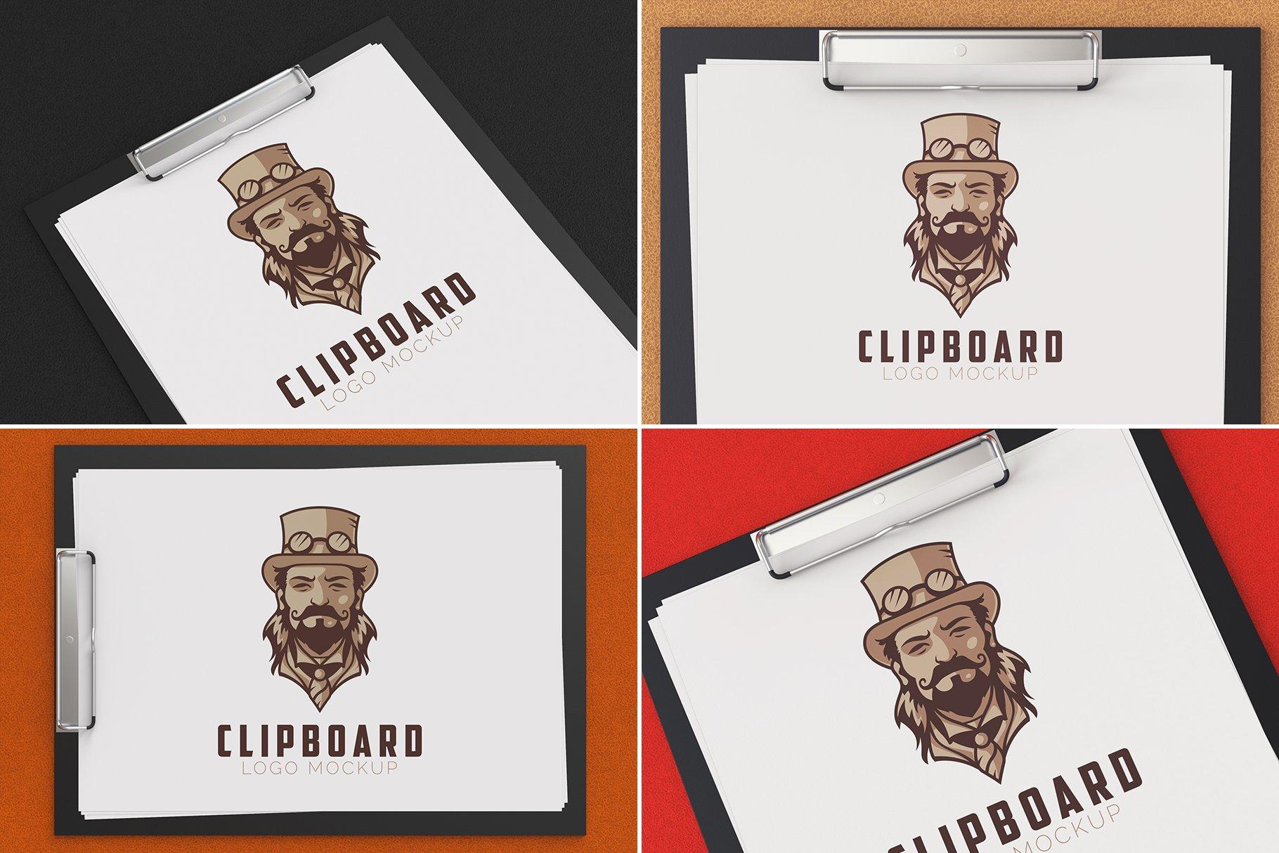 100款品牌标志LOGO徽标设计展示样机模板合集 100 Logo Mockups Bundle Vol.4插图(9)