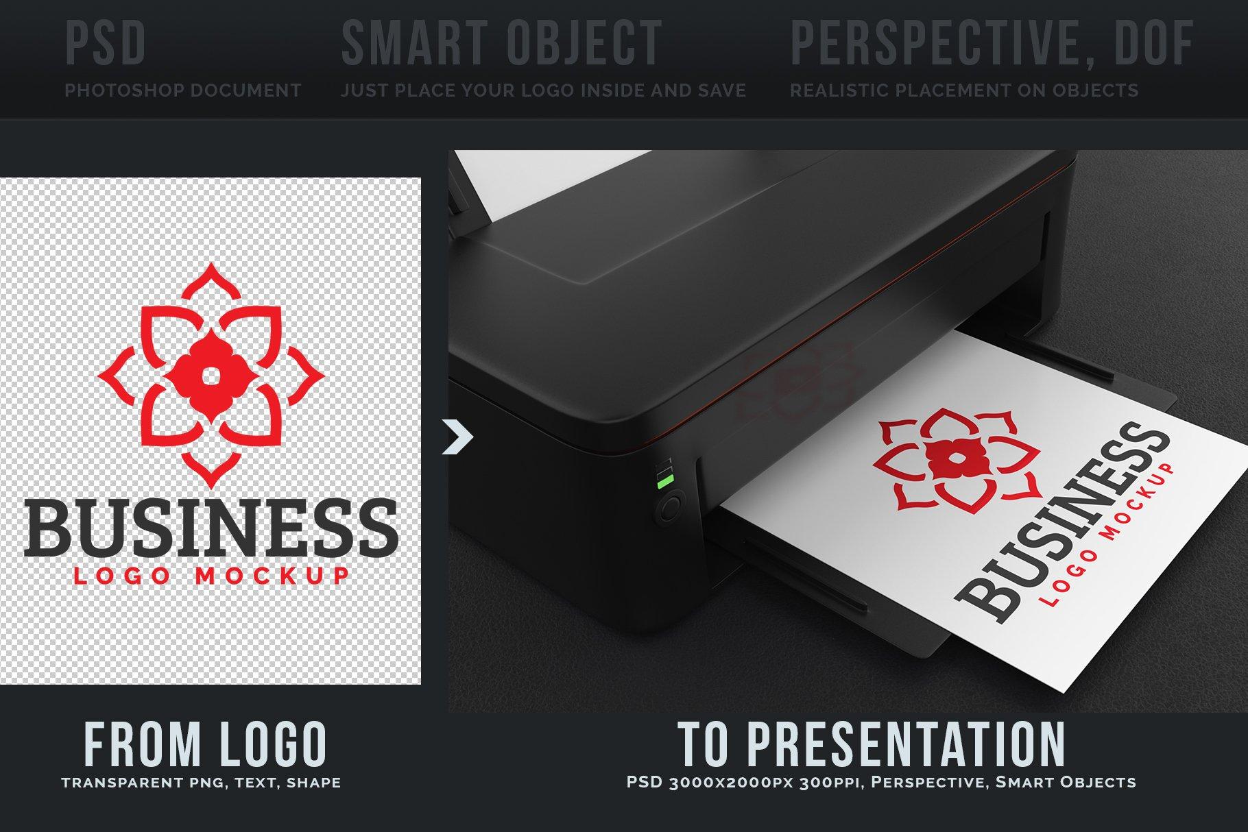 100款标志徽标设计展示PSD样机模板合集 100 Logo Mockups Bundle Vol.5插图(2)
