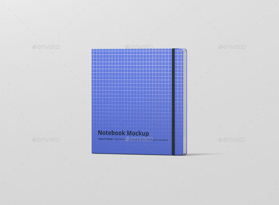 8款正方形笔记本设计展示样机模板 Notebook Mockup Square Format插图(9)