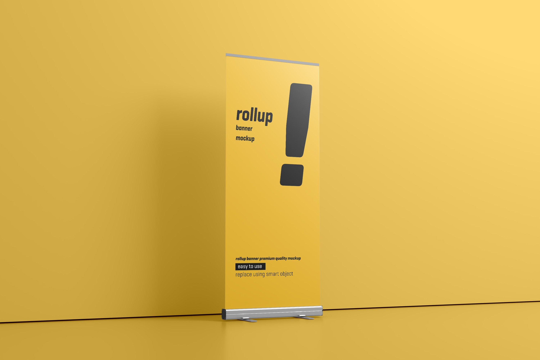 24款易拉宝海报展架设计展示样机模板 Roll Up Banner Mockup插图(8)