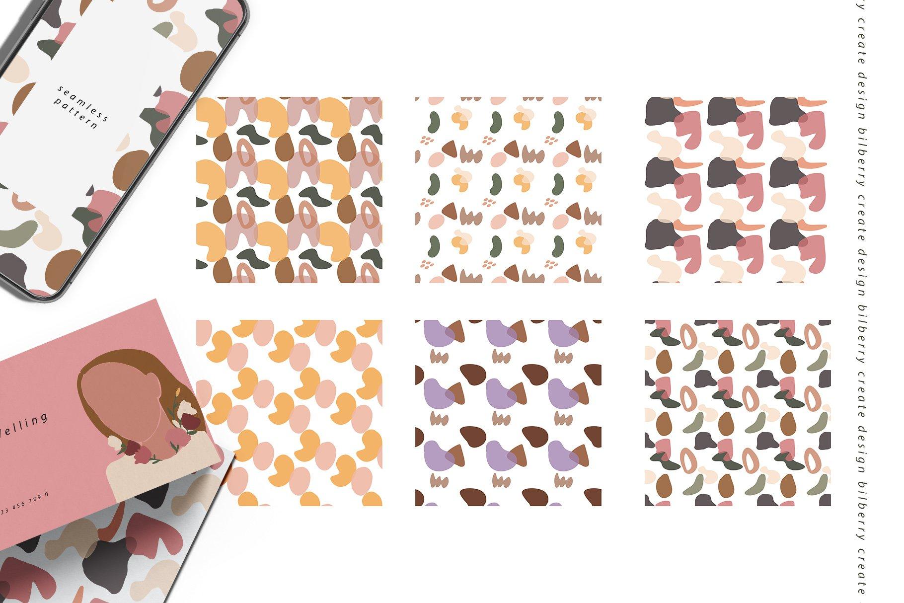 85多个抽象女孩风景形状矢量图案素材 Child Of Flowers Abstract Portrait插图(10)