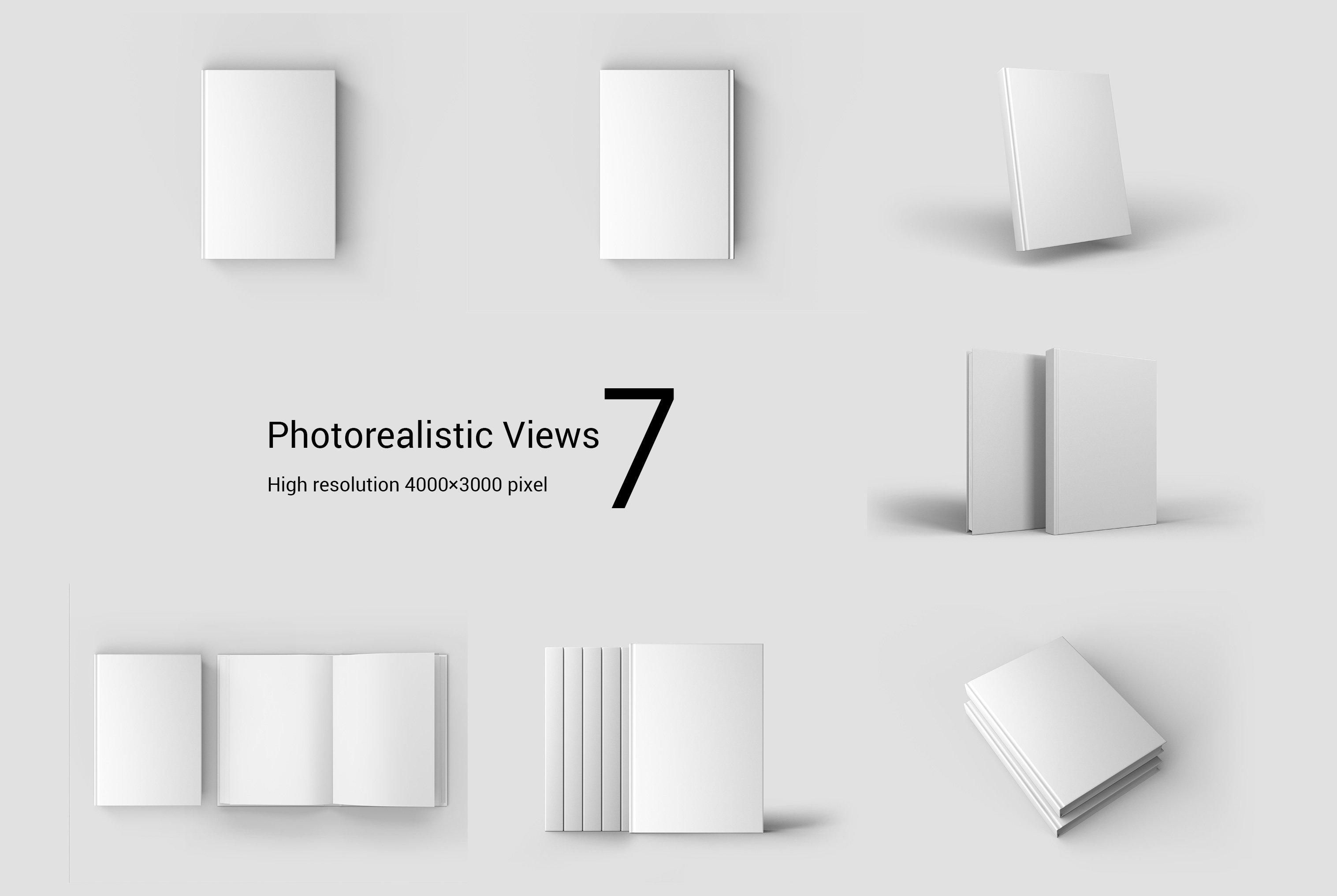 7款精装书封面设计展示样机模板集 Book Cover Mockup Set插图(10)