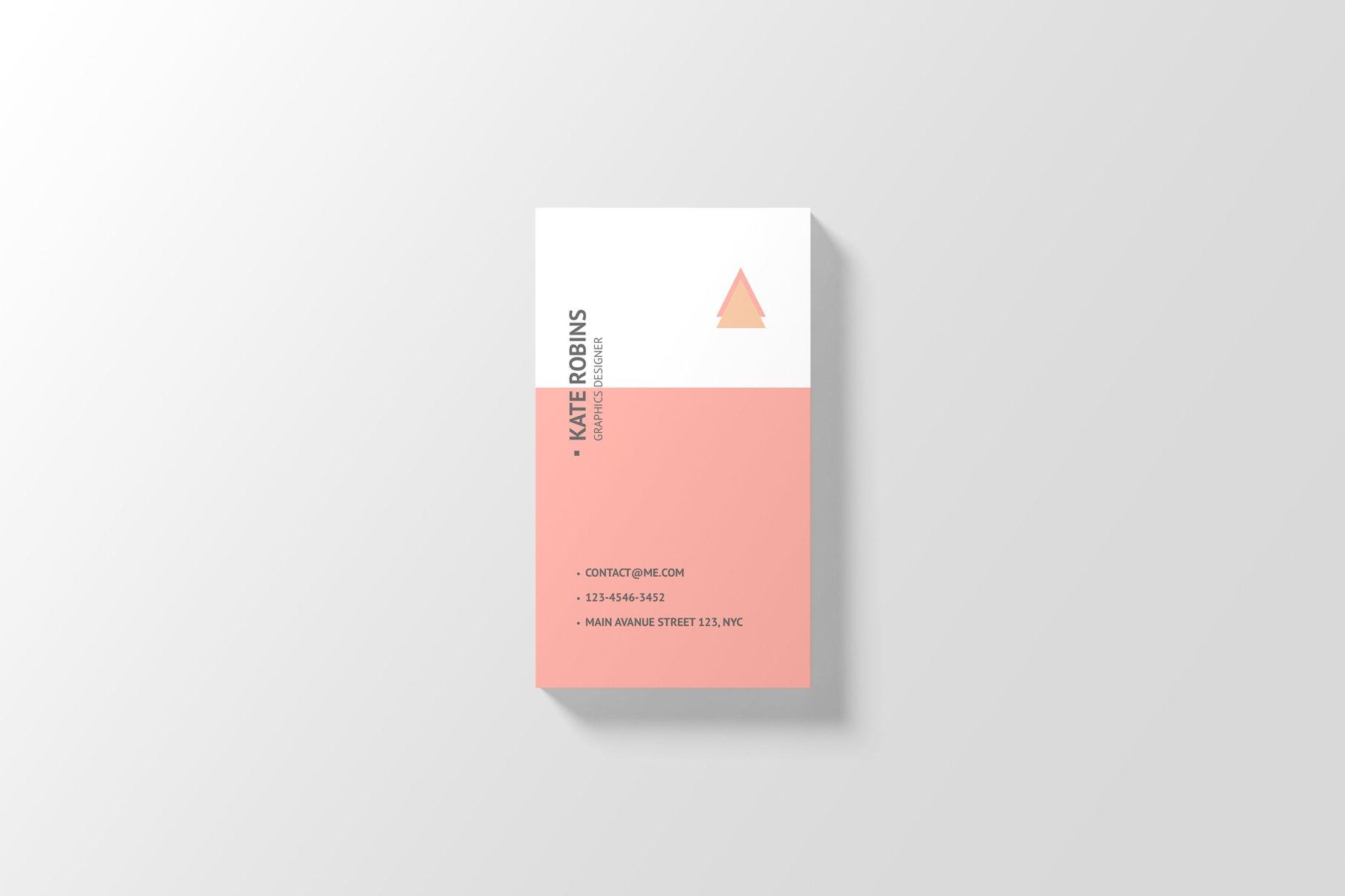 14款商务个人名片卡片设计展示样机 Portrait Business Card Mockup插图(11)