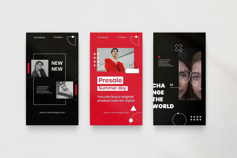 时尚潮流品牌推广新媒体海报设计PSD模板 Creator – Dynamic Social Media Brand插图(9)