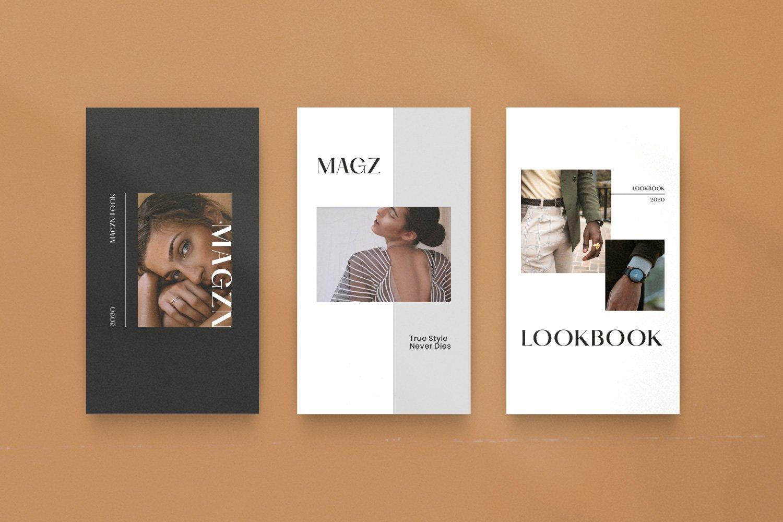 时尚服装品牌摄影推广新媒体海报设计PSD模板 MAGZ – Fashion Brand Social Media插图(10)
