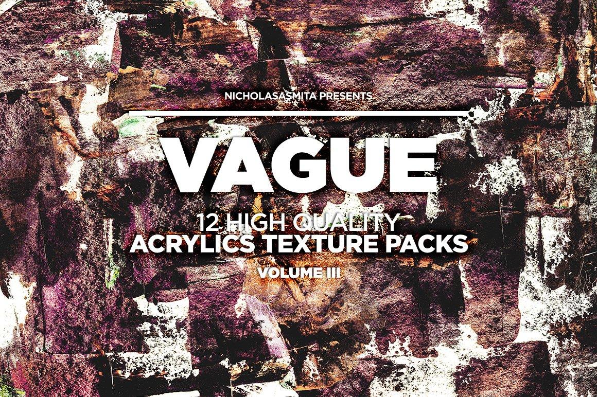 12款高清炫彩丙烯酸涂料背景纹理图片素材 Vague III: 12 Acrylics Textures插图(2)