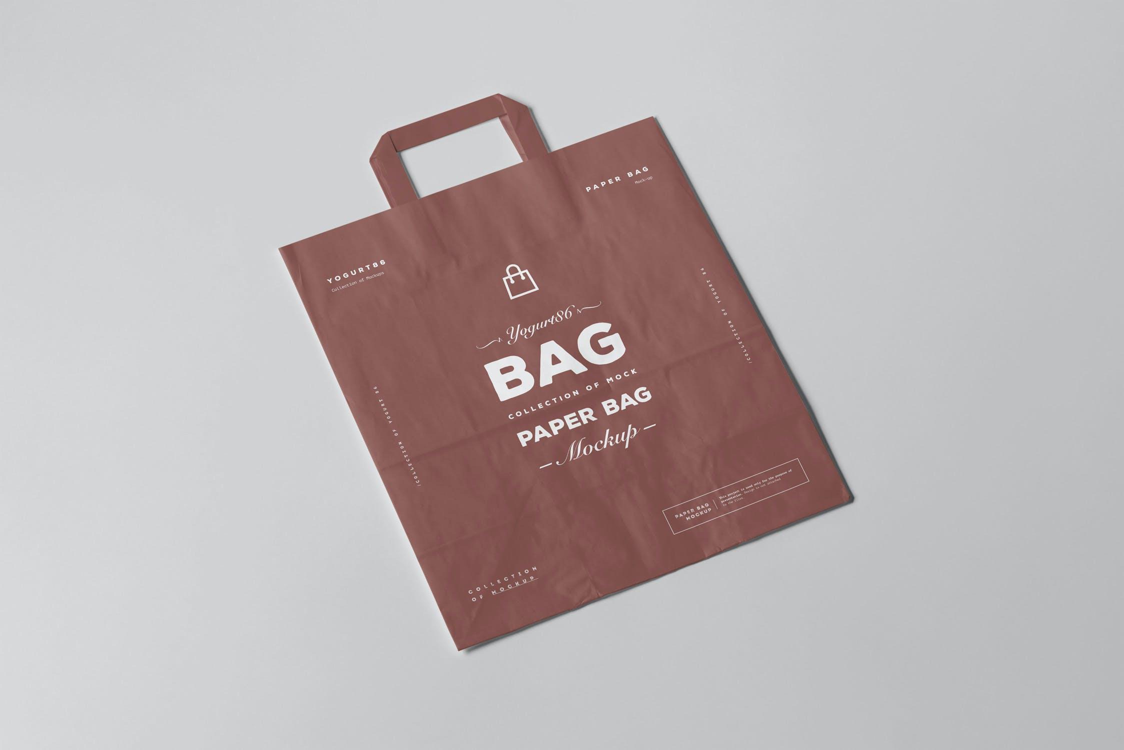 11款商城购物手提纸袋设计展示样机 Paper Bag Mockup 3插图(10)