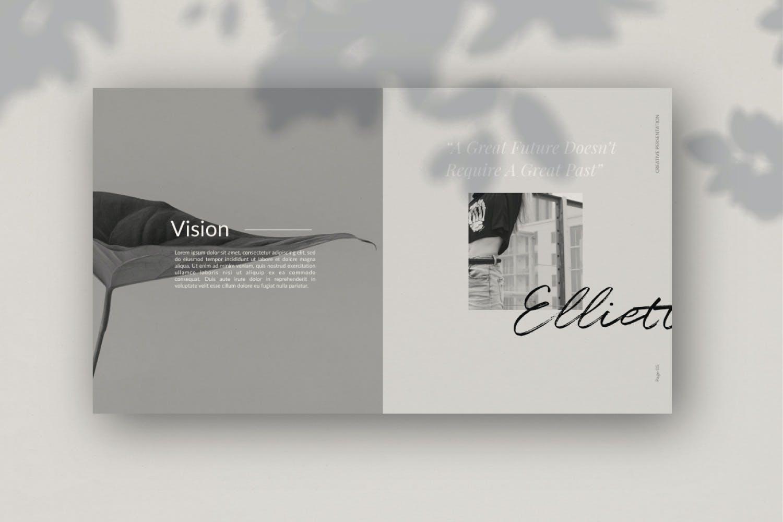 轻柔摄影作品集演示文稿设计模板 Elliette – Powerpoint插图(10)