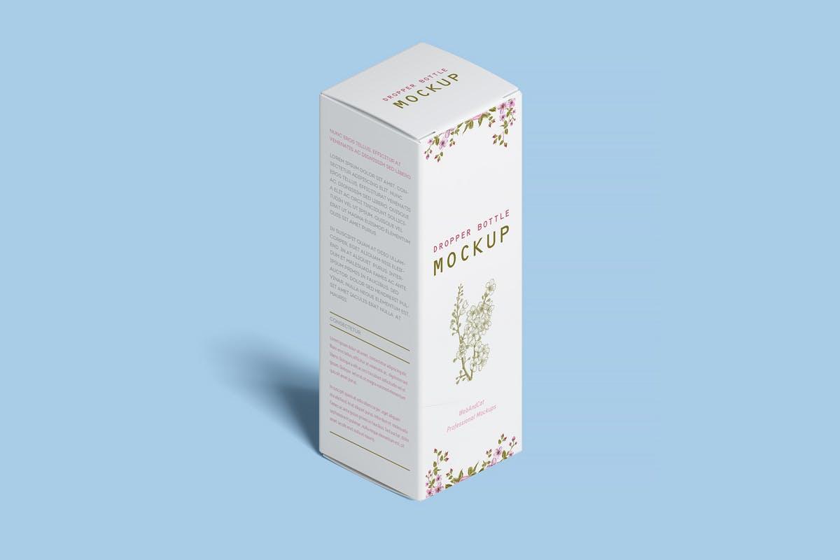 9款化妆品药物滴管瓶设计展示样机模板 Dropper Bottle Mockup插图(10)