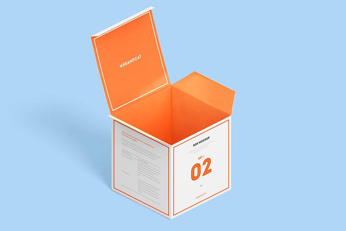 7款方形产品包装纸盒外观设计展示样机模板 Package Box Mockup: Square Box插图(10)