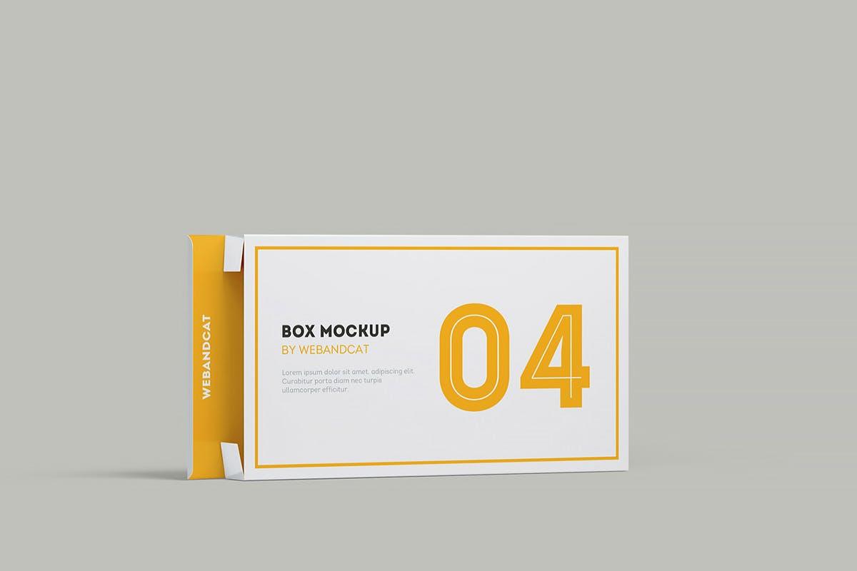 9款平面矩形药片包装盒设计展示样机模板 Package Box Mockup: Flat Rectangle Box插图(10)