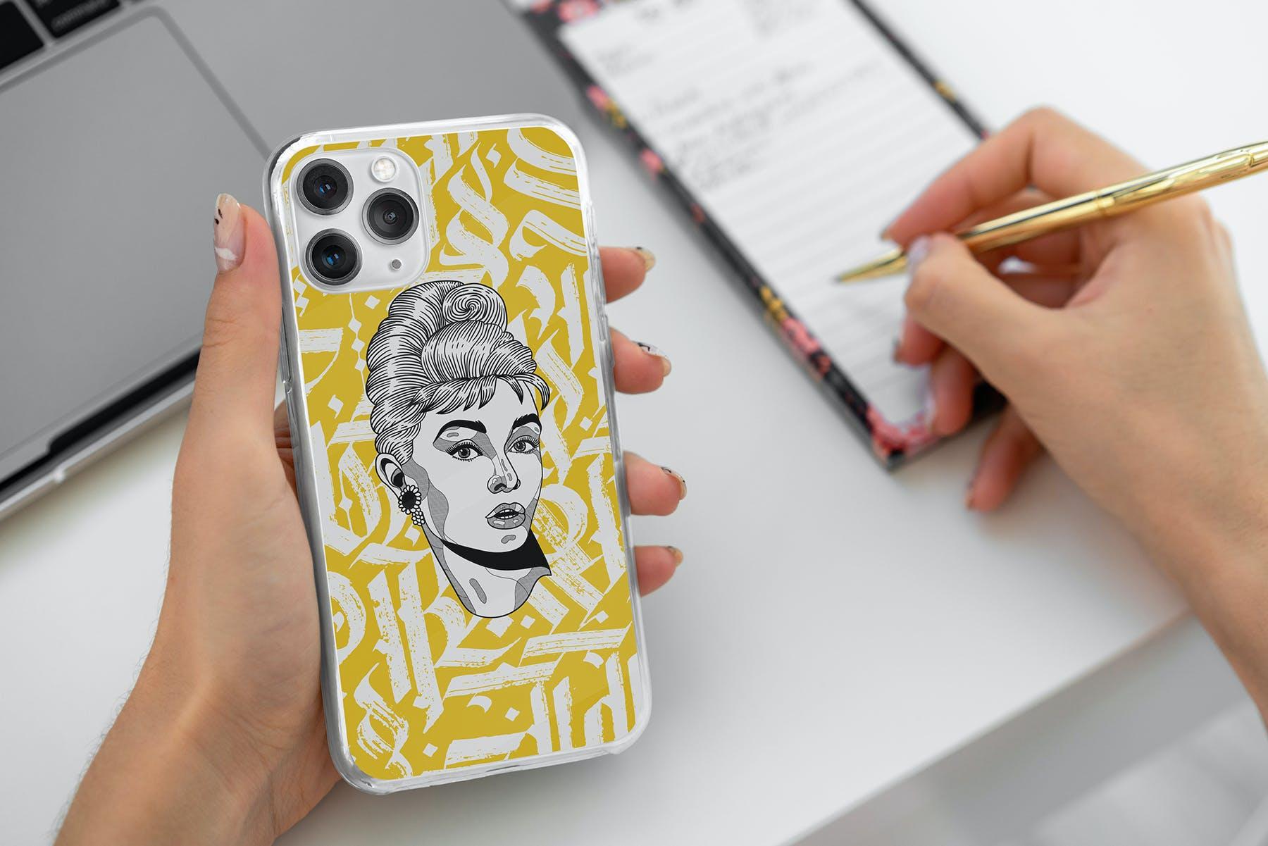11款Phone 11/Pro智能手机壳外观设计展示样机模板 Phone 11/Pro Clear Case Mockup插图(10)