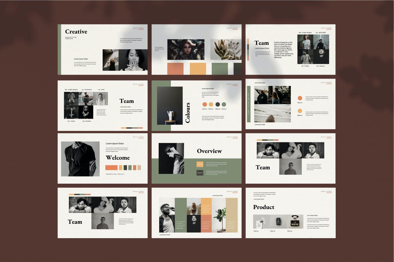 创意极简商业策划书演示文稿设计模板 Staywild – Creative Minimal Powerpoint插图(10)