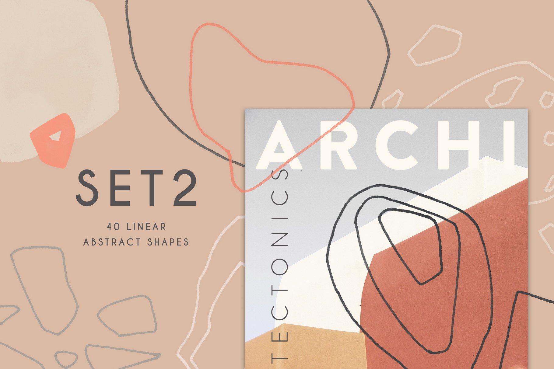 100款现代抽象石头几何图案PS水彩印章笔刷 Terrazzo Photoshop Brushes插图(4)