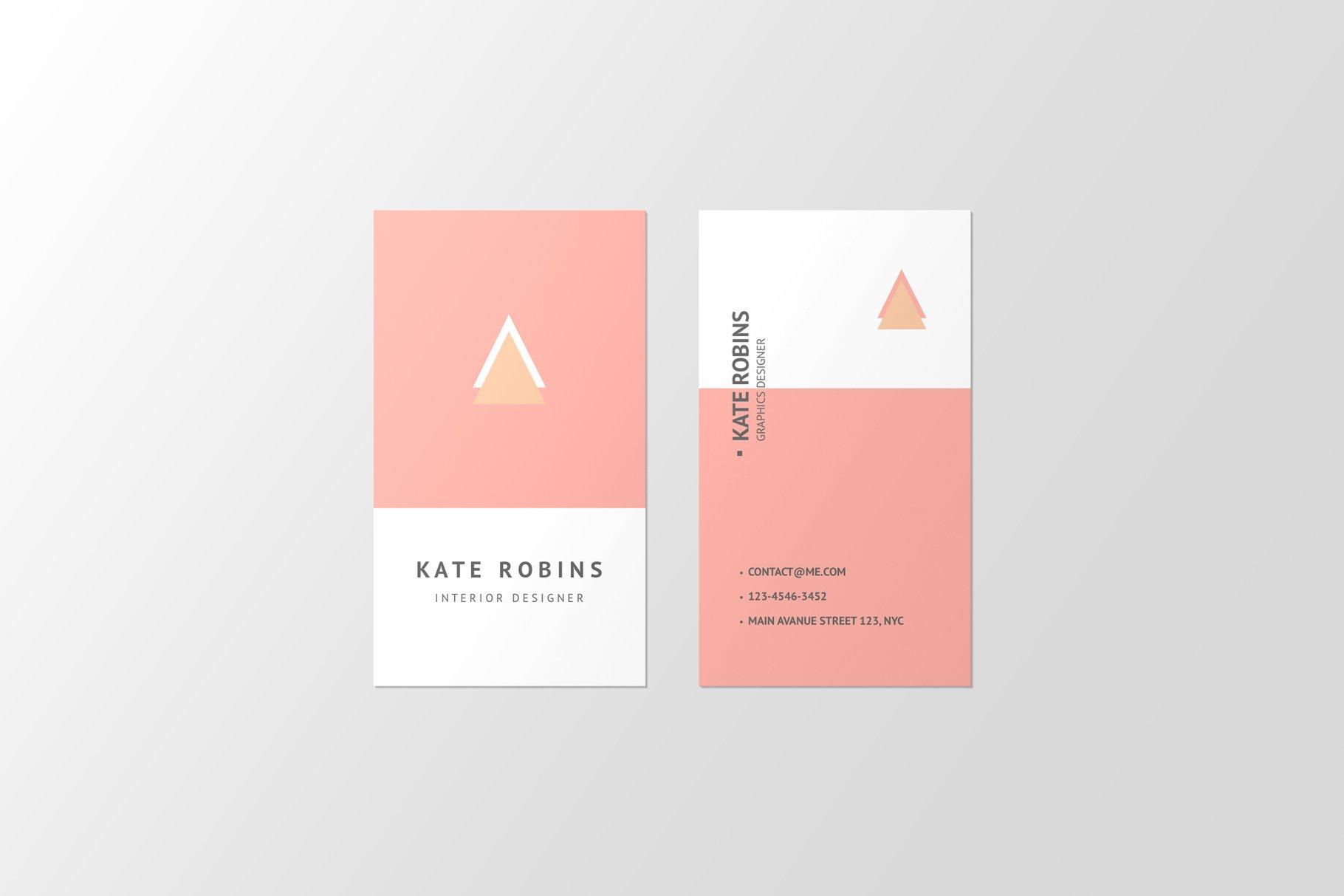 14款商务个人名片卡片设计展示样机 Portrait Business Card Mockup插图(12)