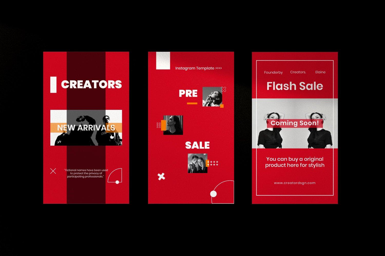 时尚潮流品牌推广新媒体海报设计PSD模板 Creator – Dynamic Social Media Brand插图(10)