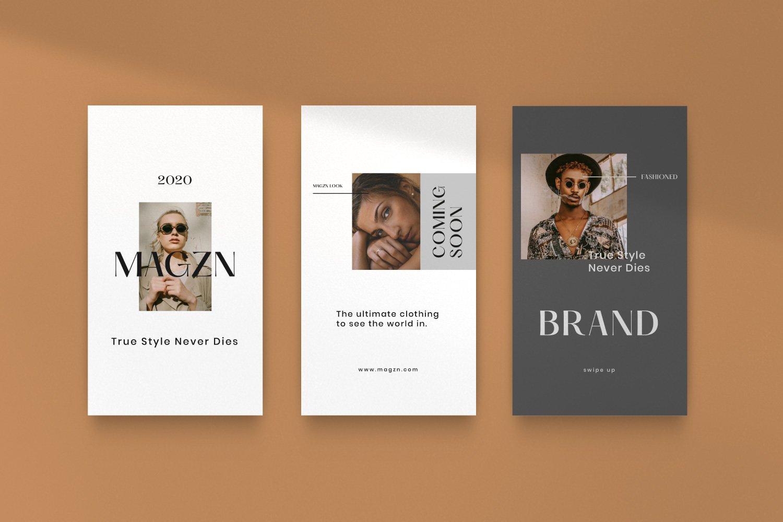 时尚服装品牌摄影推广新媒体海报设计PSD模板 MAGZ – Fashion Brand Social Media插图(11)