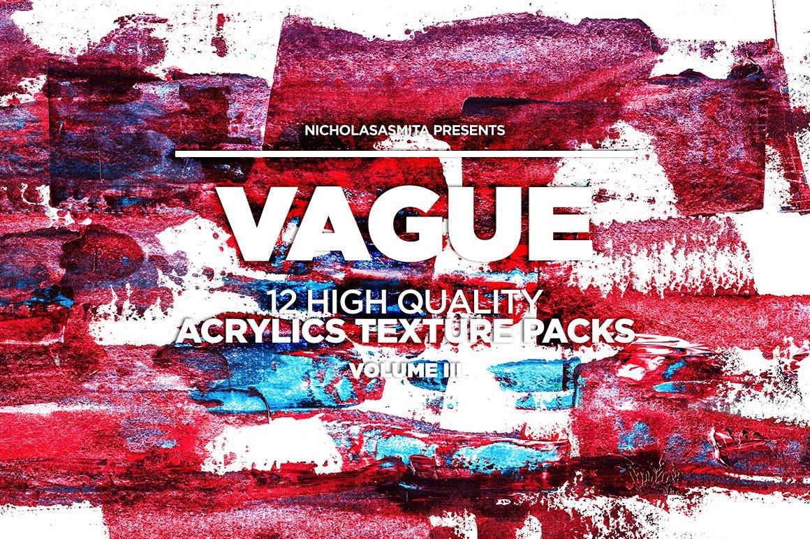 12款高清炫彩丙烯酸涂料背景纹理图片素材 Vague III: 12 Acrylics Textures插图(1)