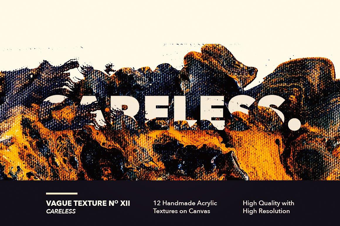 12款高清抽象炫彩丙烯酸涂料海报设计背景纹理图片素材 Vague I: 12 Acrylics Textures插图(12)