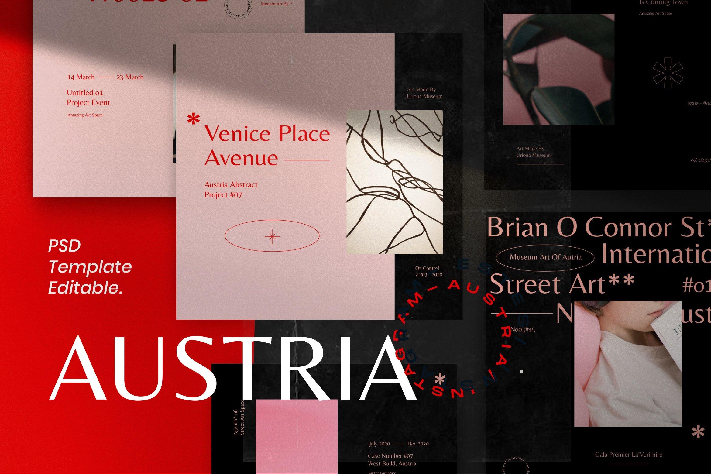 时尚女性服装品牌推广新媒体海报设计模板 AUSTRIA – Social Media Post & Stories插图(4)