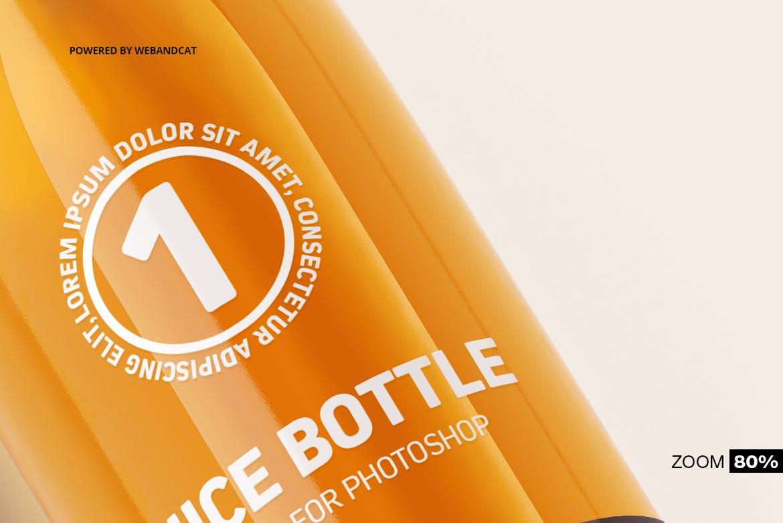 果汁牛奶玻璃瓶设计展示样机 Juice / Glass Bottle Mockup插图(11)