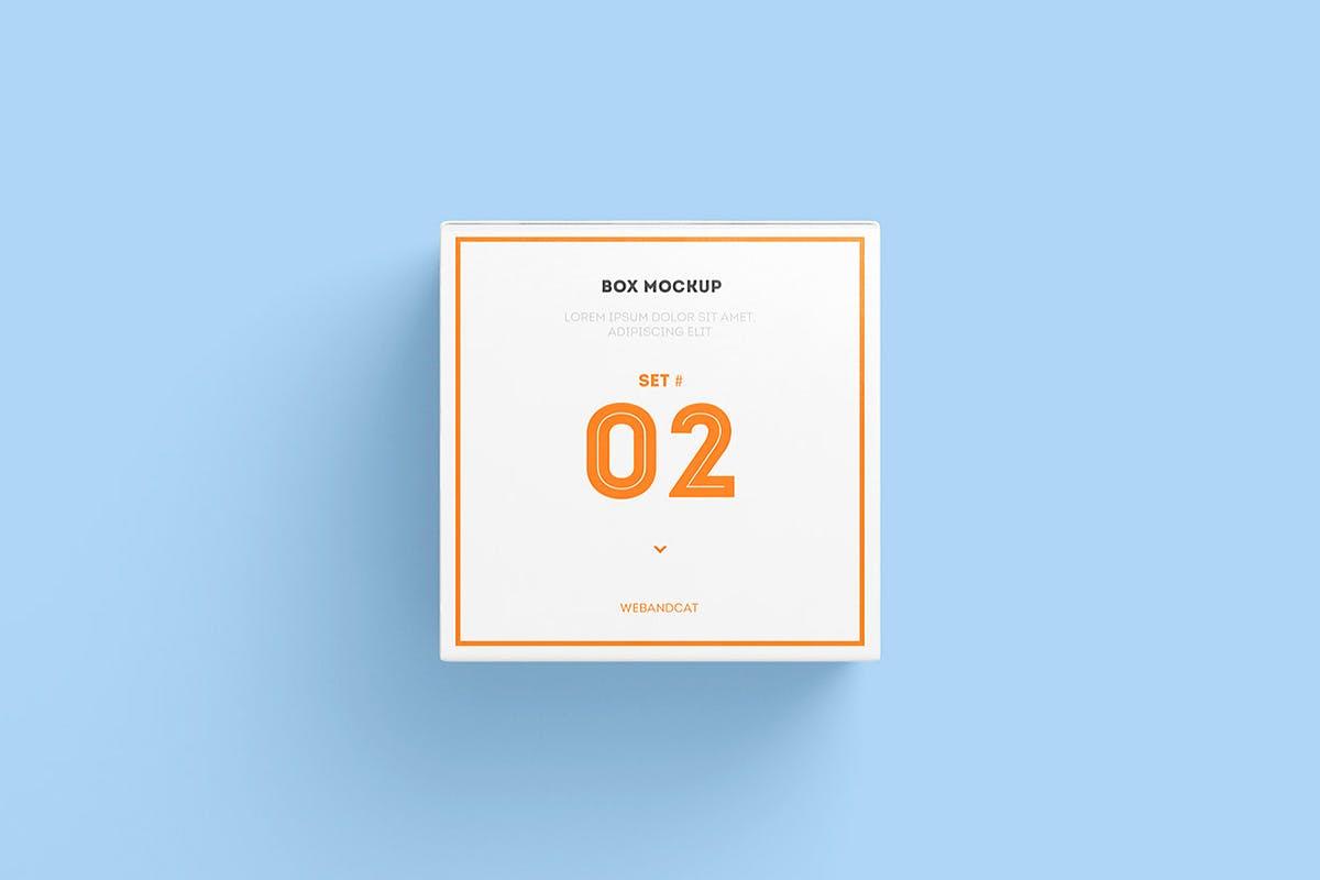 7款方形产品包装纸盒外观设计展示样机模板 Package Box Mockup: Square Box插图(11)