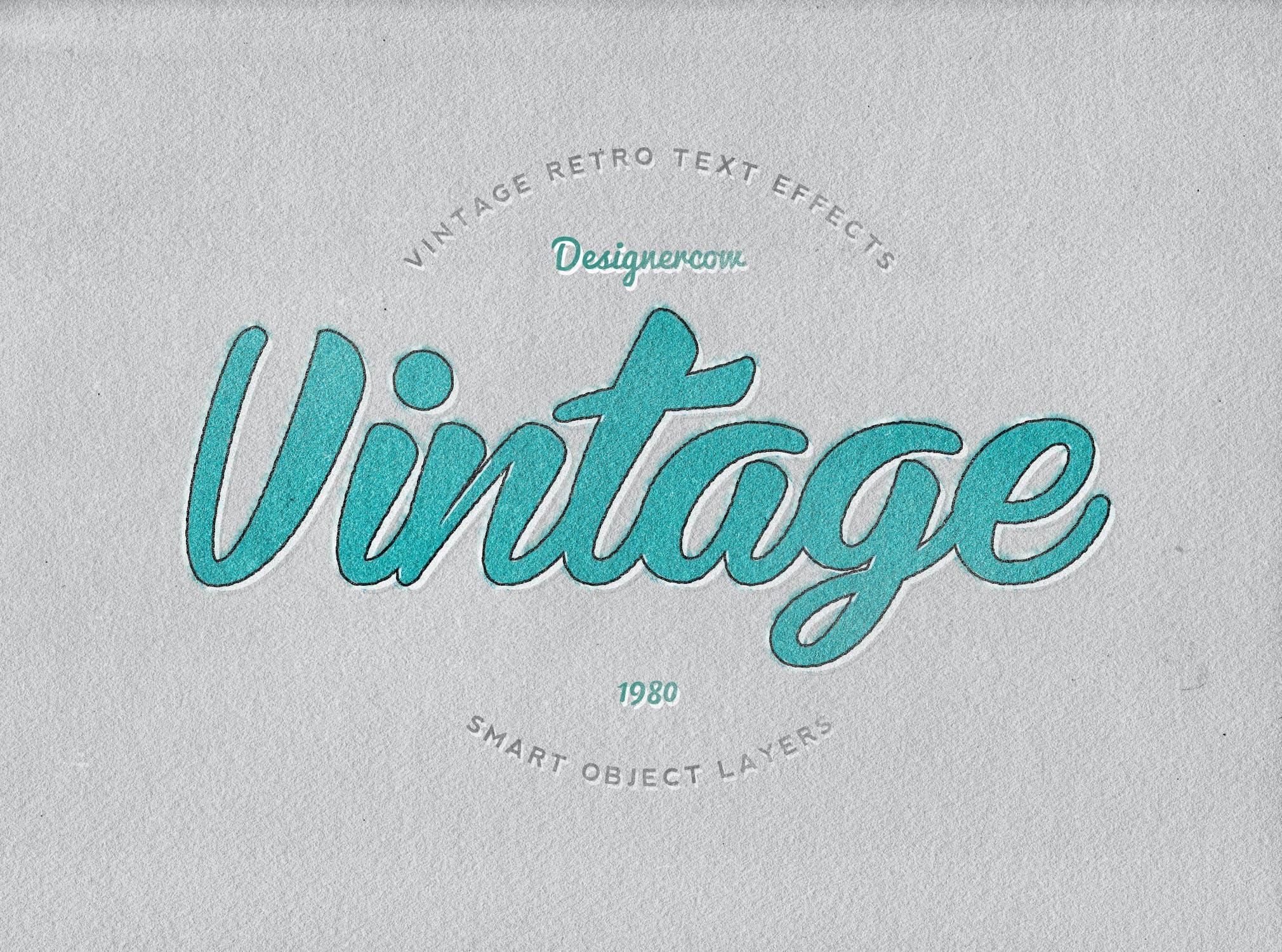 14款老式复古3D立体效果徽标标题字体设计PS样式模板 14 Vintage Retro Text Effects插图(11)
