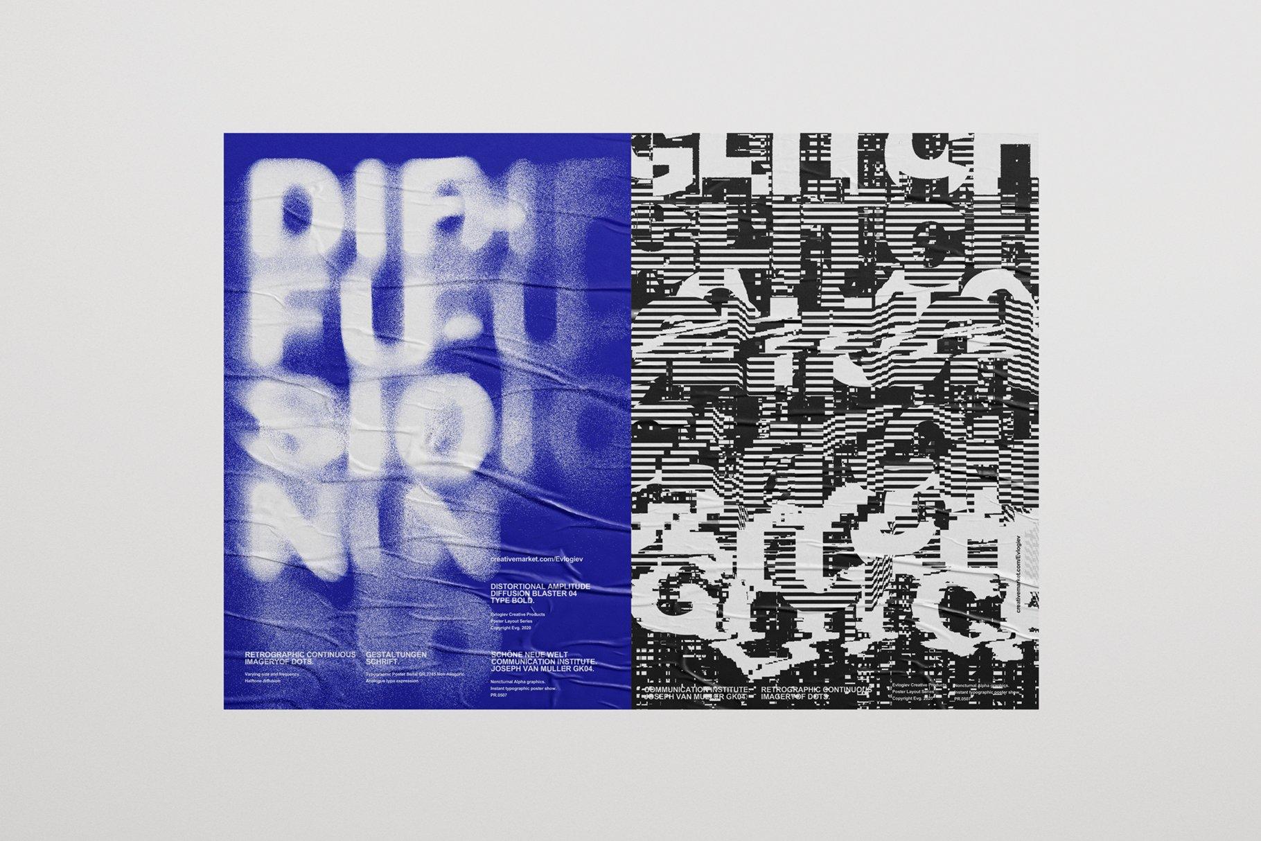 20款创意抽象主视觉海报标题特效字体设计智能贴图样机模板 Typographic Poster Layouts No.01插图(11)